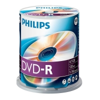 Philips DVD-R 4.7GB CAKE BOX 100