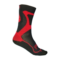 FR - NANO SPORT SOCKS BLACK/RED (AG2RLVMEG7)